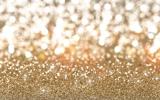 Natale sfondo di spumante glitter oro