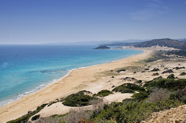 Golden beach the best beach of cyprus, karpas peninsula, cyprus