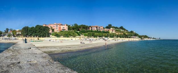 Golden beach promenade in odessa