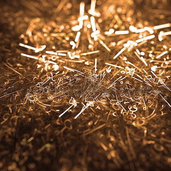 Golden beautiful star lights background