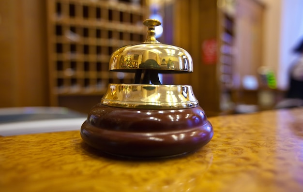 Golden bell  in hotel