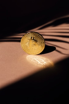 Golden bitcoin a cryptocurrency concept