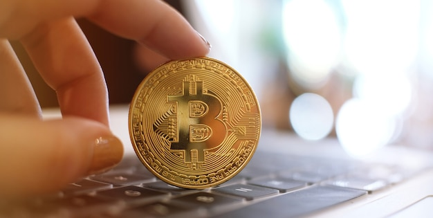 Golden bitcoin cryptocurrency ethereum business