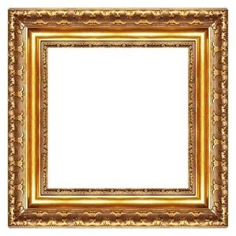 Islolated угол рамы золотой блан на белом