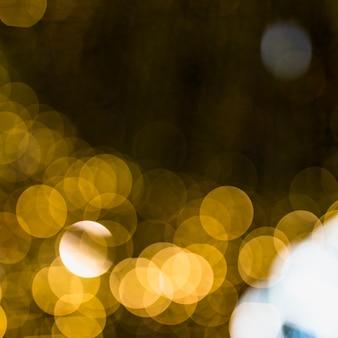 Golden blurred bokeh background