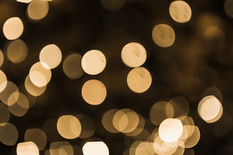 Golden bokeh abstract light background