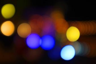 Золотой боке абстрактный свет, оранжевый фон