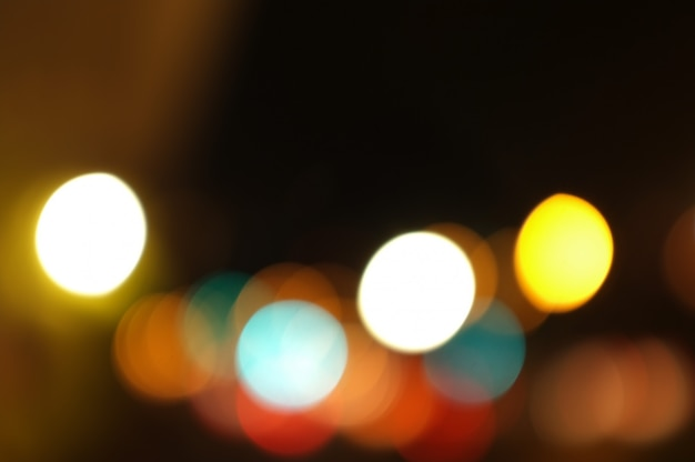 Golden bokeh abstract light,orange background