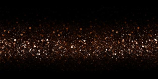 Золотой боке блеск эффект боке черный
