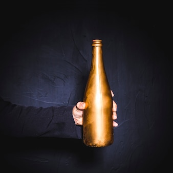 Golden bottle of champagne
