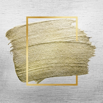 Golden brush stroke texture