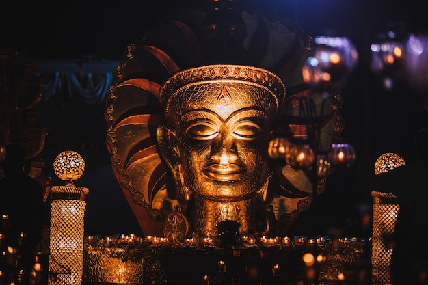 The golden buddha in india