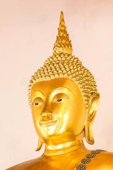 The golden buddha is beautiful that buddhists worship