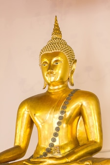 The golden buddha is beautiful that buddhists worship