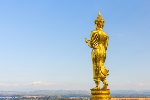 Golden buddha statue at phra that khao noi temple nan in thailand