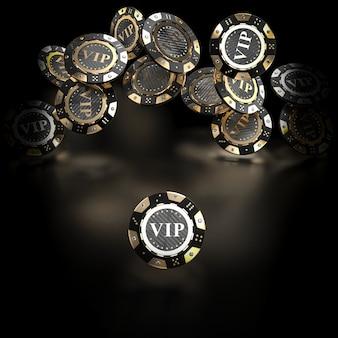 Golden and carbon fiber gambling chip