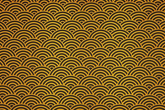 Коллекция золотых китайских узоров