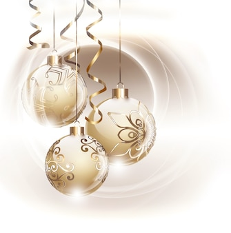 Золотая рождественская открытка