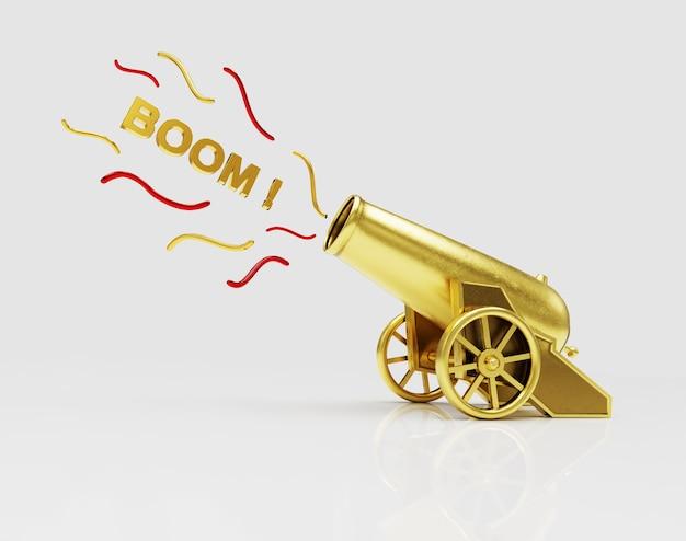 Стрельба из золотой цирковой пушки