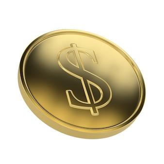 Golden coin dollar