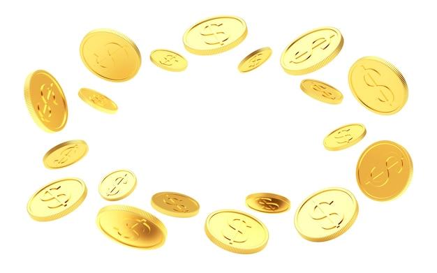 Золотые монеты расположены по кругу