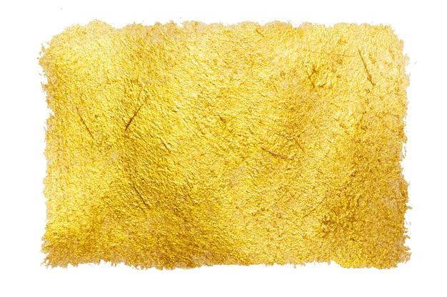 Golden color paint stroke background. glitter stain design