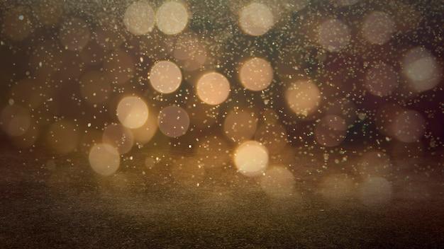 Золотой цвет расфокусированным боке огни фон - горизонтальные обои, плакат. стильный, праздничный и элегантный снимок. модные цвета. освещение, свет, эффекты блеска. праздничное украшение.