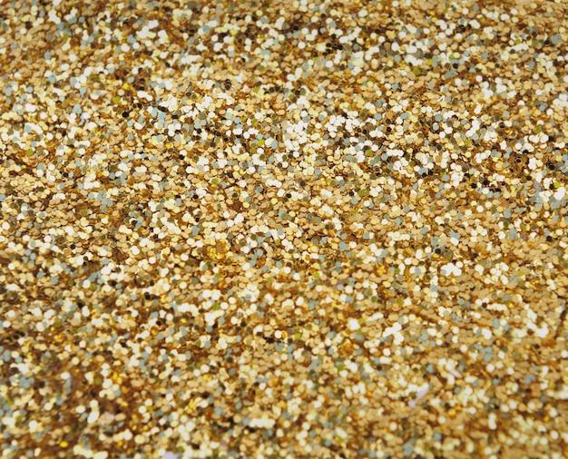 Golden confetti in full frame