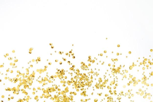 화이트에 황금 색종이 반짝이