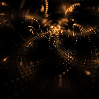 Golden creative lights halftone wallpaper