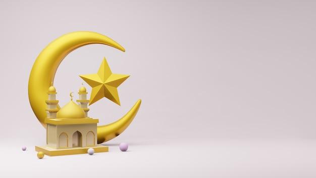 황금 초승달과 모스크와 별