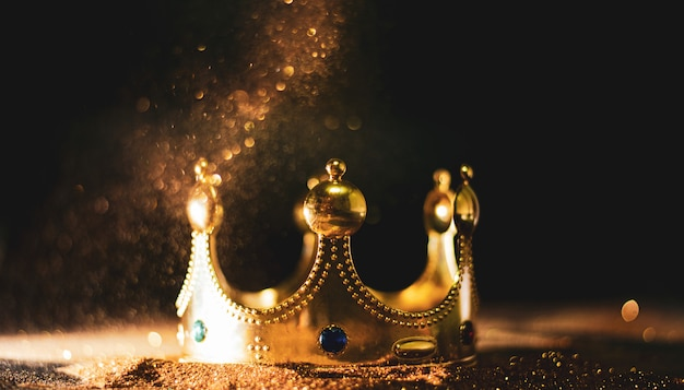 Golden crown of a king