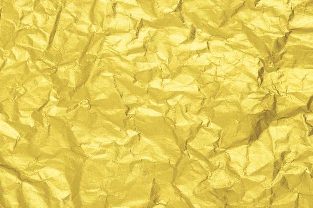 Текстура золотой мятой бумаги