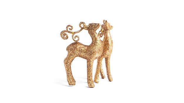 Золотые олени новогоднее украшение