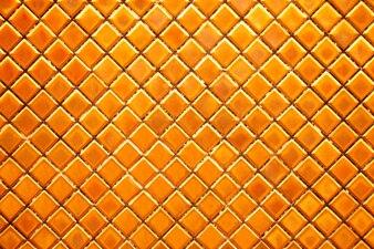 Golden diamond mosaic tiles for texture background