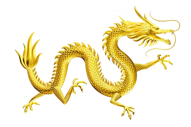 Golden dragon lucky leader come to you with family and friends