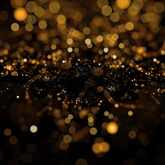 Golden dust particles background