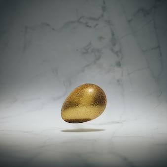 Золотое пасхальное яйцо на мраморе