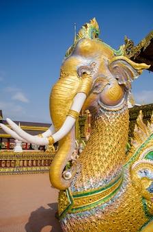Golden elephat statue