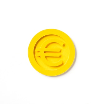 Golden european euro coin graphic
