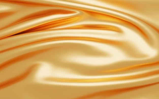 황금 직물 배경 3d 렌더링