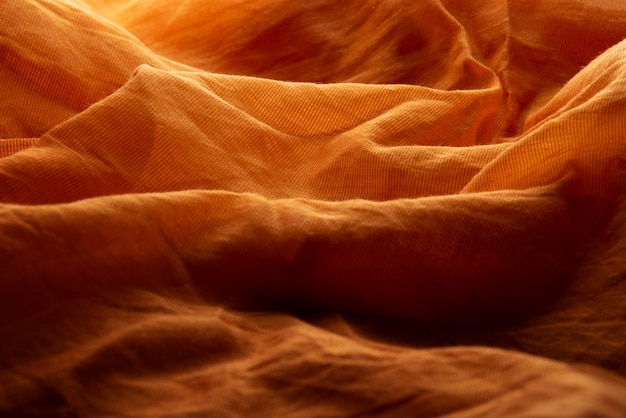 Golden fabric texture abstract background
