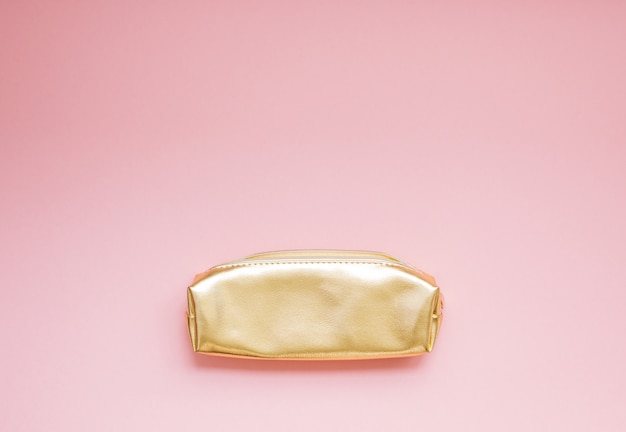 Golden female purse