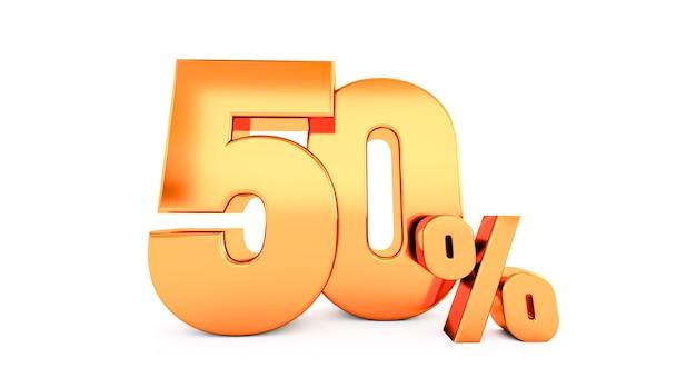 Golden fifty 50 percent