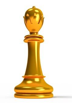 Золотая фигура королевы на белом фоне