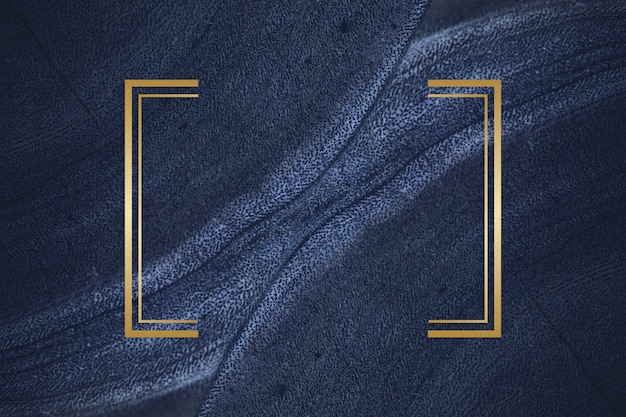 Golden frame on a blue textured stone
