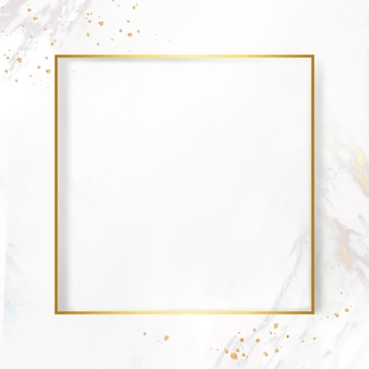 Golden frame on a marble background