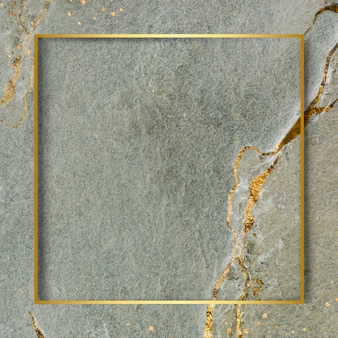 Golden frame on marbled background
