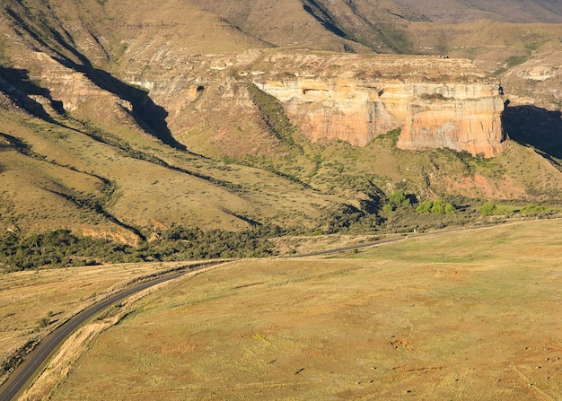 Parco nazionale golden gate highlands in sud africa