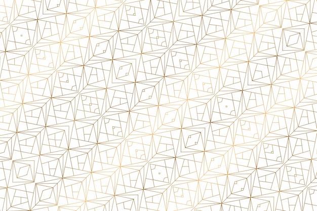 Золотой геометрический абстрактный фон на белом. узор для декора и дизайна, симметричный узор золотого цвета